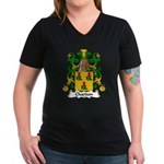 Chardon Family Crest Women's V-Neck Dark T-Shirt