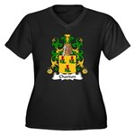 Chardon Family Crest Women's Plus Size V-Neck Dark