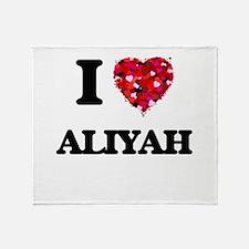 I Love Aliyah Throw Blanket
