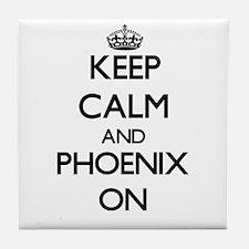 Keep Calm and Phoenix ON Tile Coaster