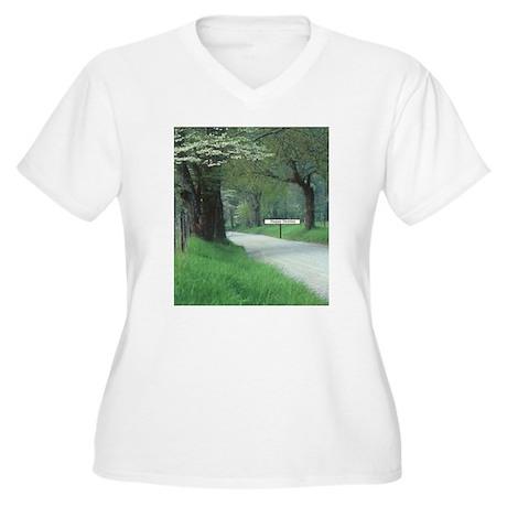Happy Destiny Women's Plus Size V-Neck T-Shirt