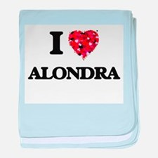 I Love Alondra baby blanket