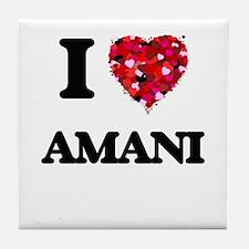 I Love Amani Tile Coaster