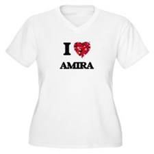 I Love Amira Plus Size T-Shirt