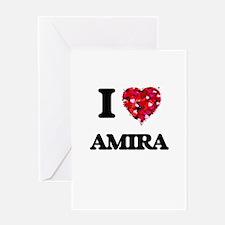 I Love Amira Greeting Cards