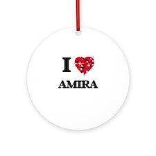 I Love Amira Ornament (Round)