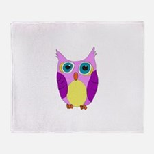She Cartoon Owl Throw Blanket