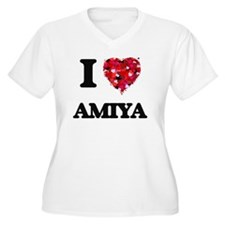 I Love Amiya Plus Size T-Shirt