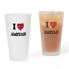 I Love Amiyah Drinking Glass