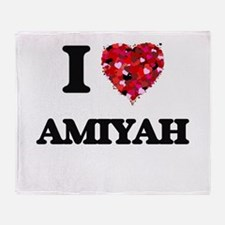 I Love Amiyah Throw Blanket