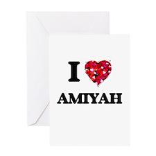 I Love Amiyah Greeting Cards