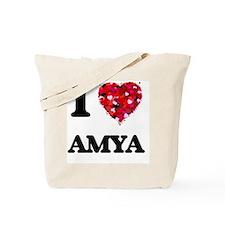 I Love Amya Tote Bag