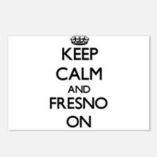 Keep Calm and Fresno ON Postcards (Package of 8)