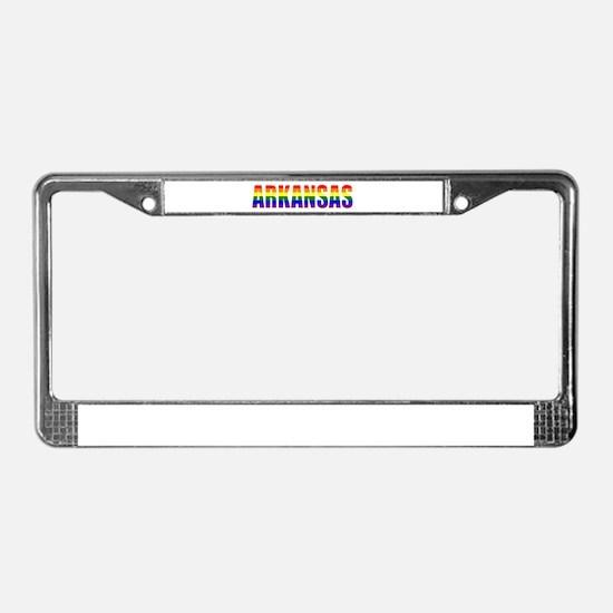 Arkansas Gay Pride License Plate Frame