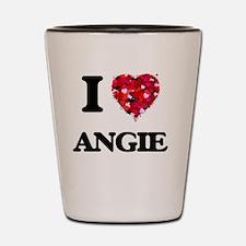 I Love Angie Shot Glass