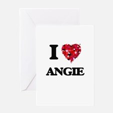 I Love Angie Greeting Cards