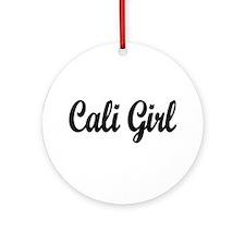 """Cali Girl"" Ornament (Round)"