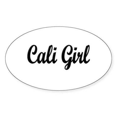"""Cali Girl"" Oval Sticker"
