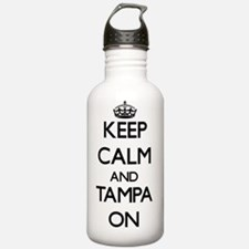 Keep Calm and Tampa ON Water Bottle