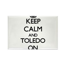 Keep Calm and Toledo ON Magnets