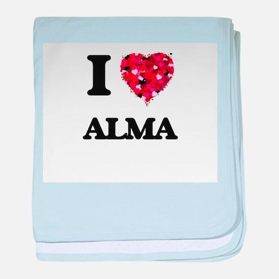 I Love Alma baby blanket