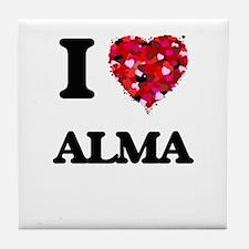 I Love Alma Tile Coaster