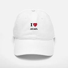 I Love Alma Baseball Baseball Cap