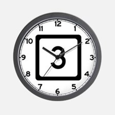 Route 3, West Virginia Wall Clock