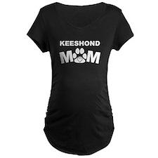 Keeshond Mom Maternity T-Shirt