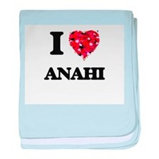 I Love Anahi baby blanket