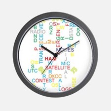 HAM RADIO WORDS Wall Clock