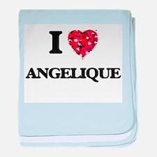 I Love Angelique baby blanket