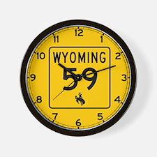 Highway 59, Wyoming Wall Clock