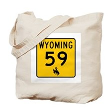 Highway 59, Wyoming Tote Bag