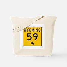 Highway 59, Wyoming Tote Bag