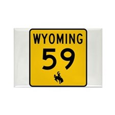 Highway 59, Wyoming Rectangle Magnet