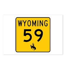 Highway 59, Wyoming Postcards (Package of 8)