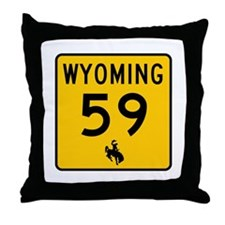 Highway 59, Wyoming Throw Pillow