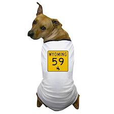 Highway 59, Wyoming Dog T-Shirt