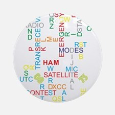 HAM RADIO WORDS Ornament (Round)
