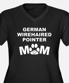 German Wirehaired Pointer Mom Plus Size T-Shirt