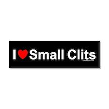 Small Clits Car Magnet 10 x 3
