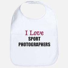 I Love SPORT PHOTOGRAPHERS Bib
