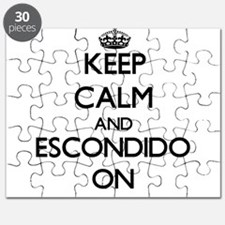 Keep Calm and Escondido ON Puzzle