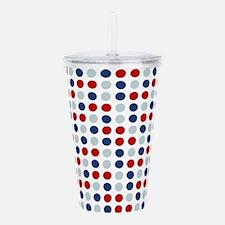 Patriotic Polka Dots Acrylic Double-wall Tumbler