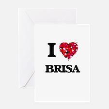I Love Brisa Greeting Cards
