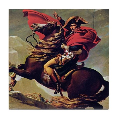 Napoleon on horse painting tile coaster by wickeddesigns4 for Napoleon horse painting