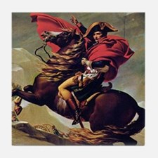 Napoleon On Horse Painting Tile Coaster