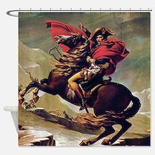 Napoleon On Horse Painting Shower Curtain