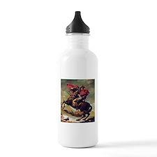 Napoleon On Horse Painting Water Bottle